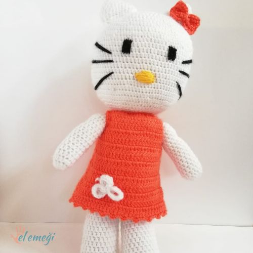 Hello Kitty intarsia sweater dress pattern | Baby knitting ... | 500x500