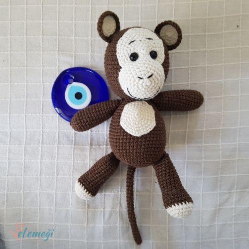 Maymun Kukuli Amigurumi Organik Oyuncak Fiyatları ve Özellikleri   500x500